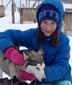 Marie og vår nyeste hund Gaia